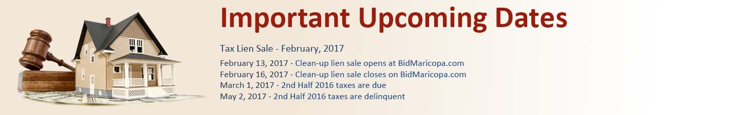 Important Dates for Tax Sale