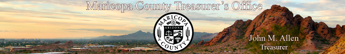 Maricopa County Treasurer's Office. Charles Hos Hoskins, Treasurer
